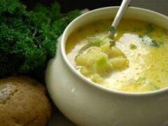Рецепт согревающего картофельного супа с имбирем